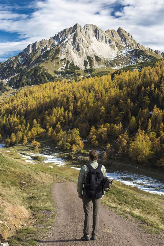 Even short hikes may require a small backpack to carry gear.