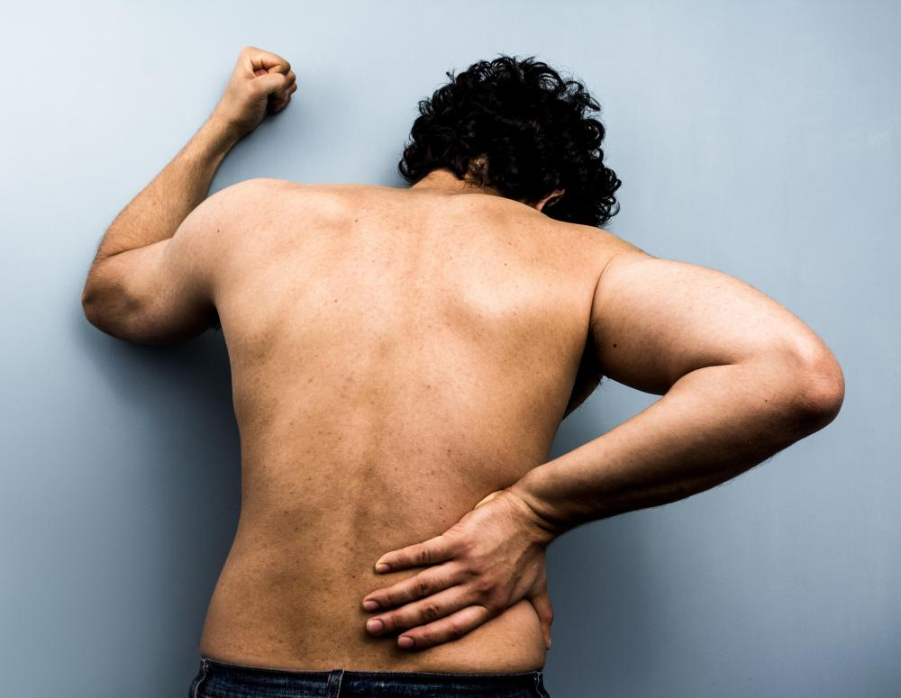 A disc compression or injury may cause back pain.