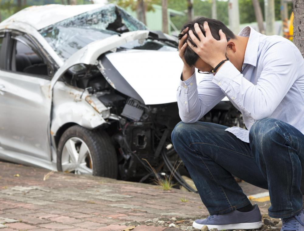 No one should leave the scene following a car crash, which is illegal to do in most states.
