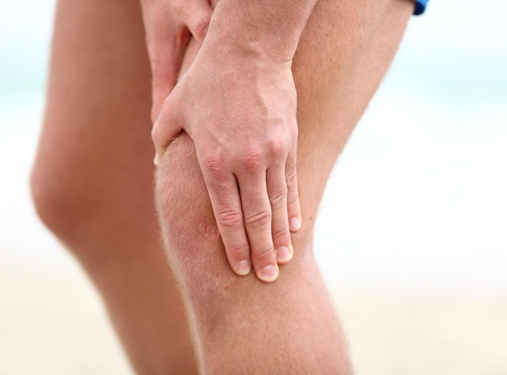Knee pain may be treated with over-the-counter medicattion.