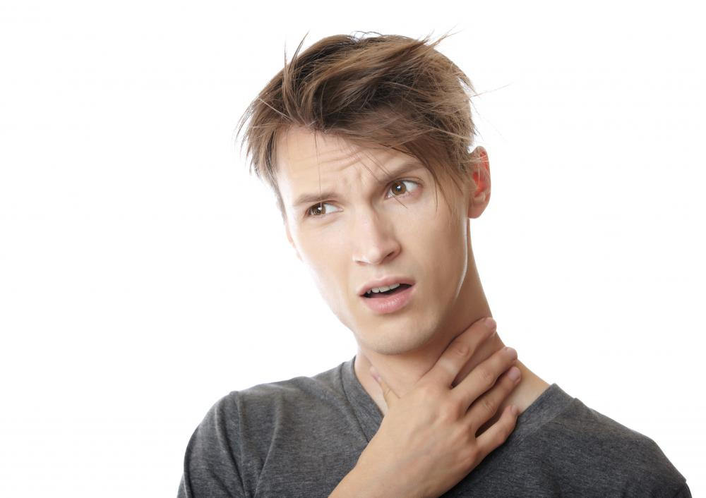 Tenderness and pain are symptoms of throat cancer.
