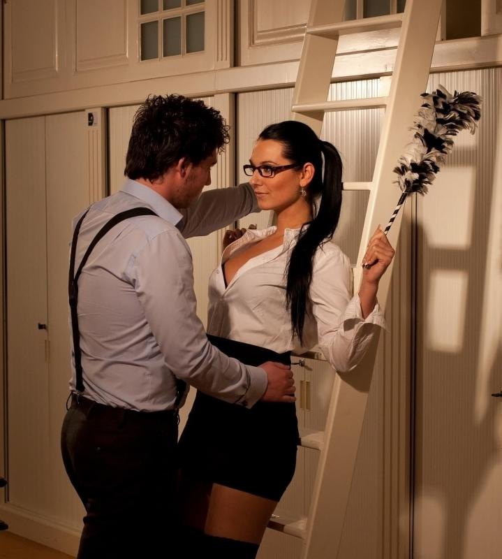 Couples may engage in role playing during sexual encounters.