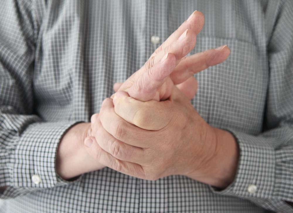 People experiencing swollen, stiff hands may have gout of the hand.