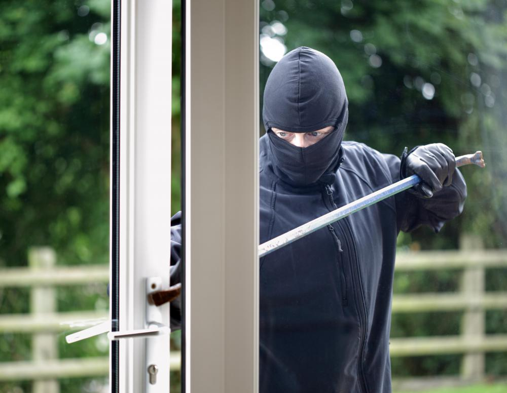 Home security signs can deter burglars from trying to enter a home.