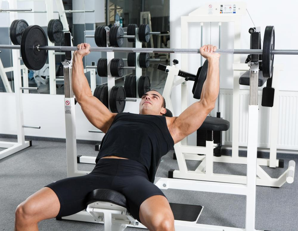 The bench press is a compound exercise in that it works the chest, shoulders and triceps.
