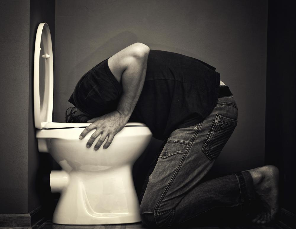 Vomiting may be another symptom of a bacterial infection.