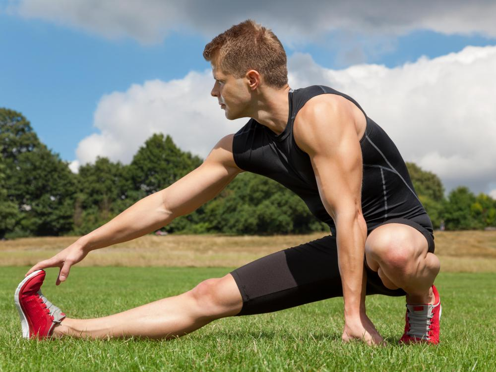 Stretches should be smooth and should not proceed past the point of mild discomfort.