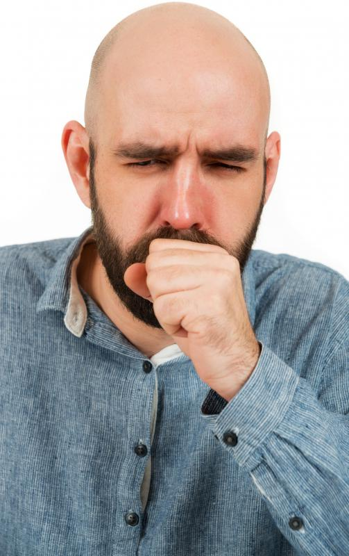 Coughing may occur as a result of an allergic reaction to mites.
