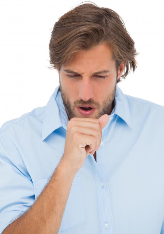 Coughing is a common symptom of bronchoconstriction.