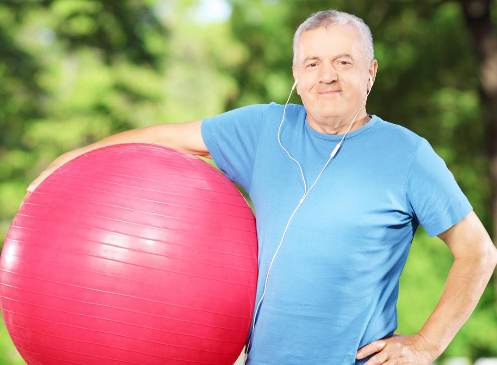 Some posture exercises can be done with the help of an exercise ball.