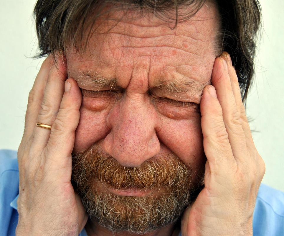 Side effects of lisinopril may include headache.
