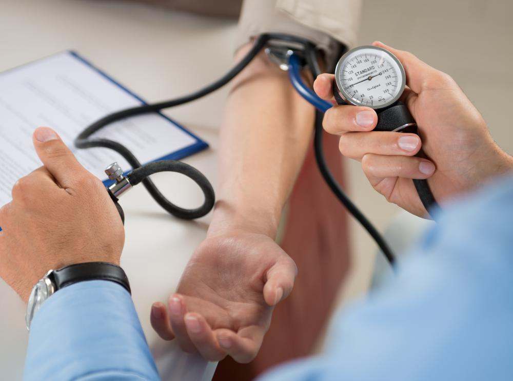 Peripheral edema may occur as a side effect of blood pressure medications.