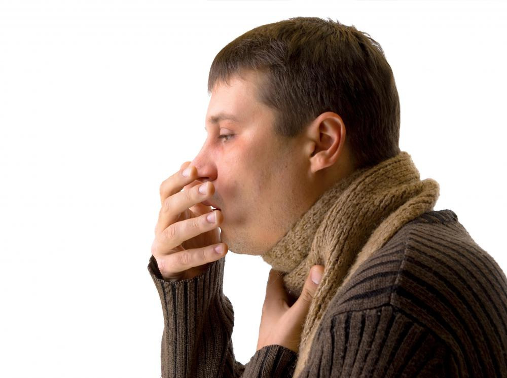 Coughing and a persistent sore throat can be symptoms of throat cancer.