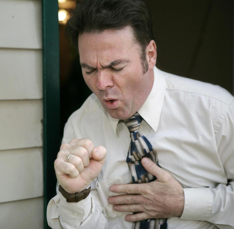 People with benign mesothelioma may experience chronic cough.