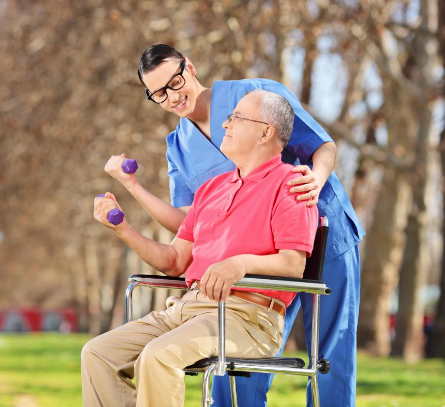 Rehabilitative care often involves exercise and physical therapy.