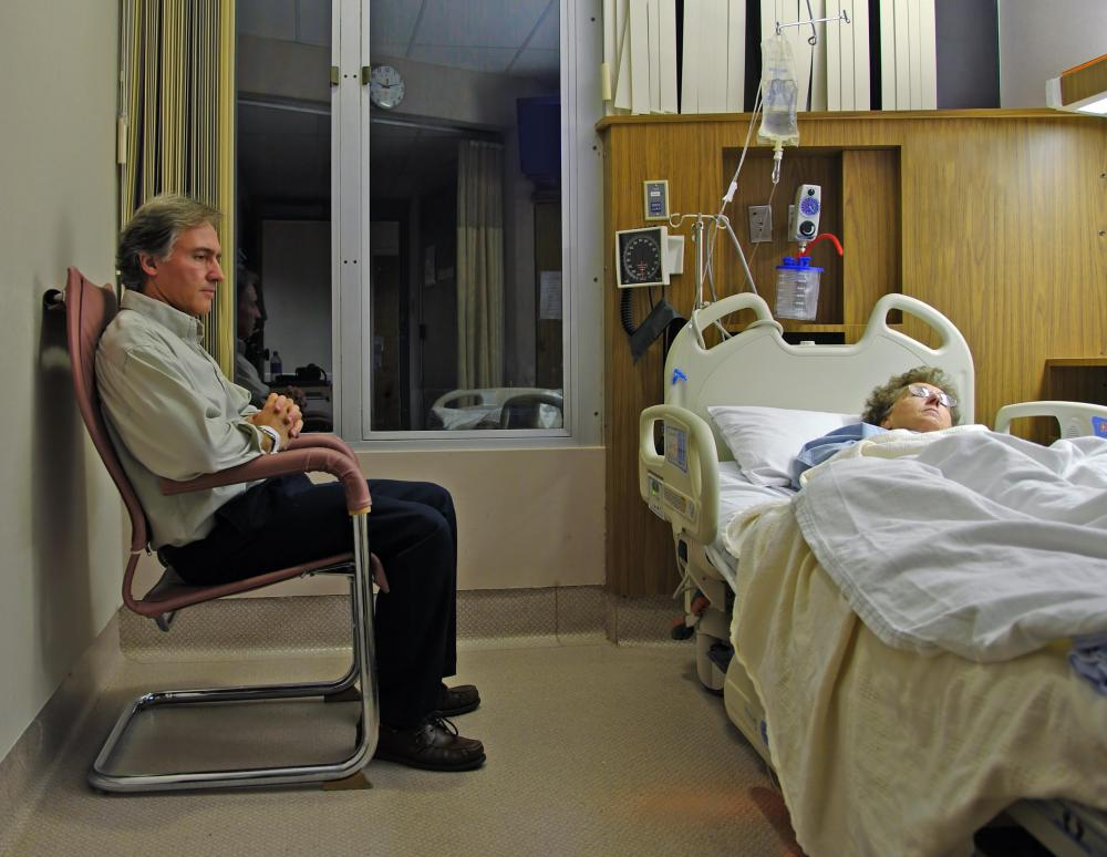 Intravenous feeding may be used for a person in a coma.