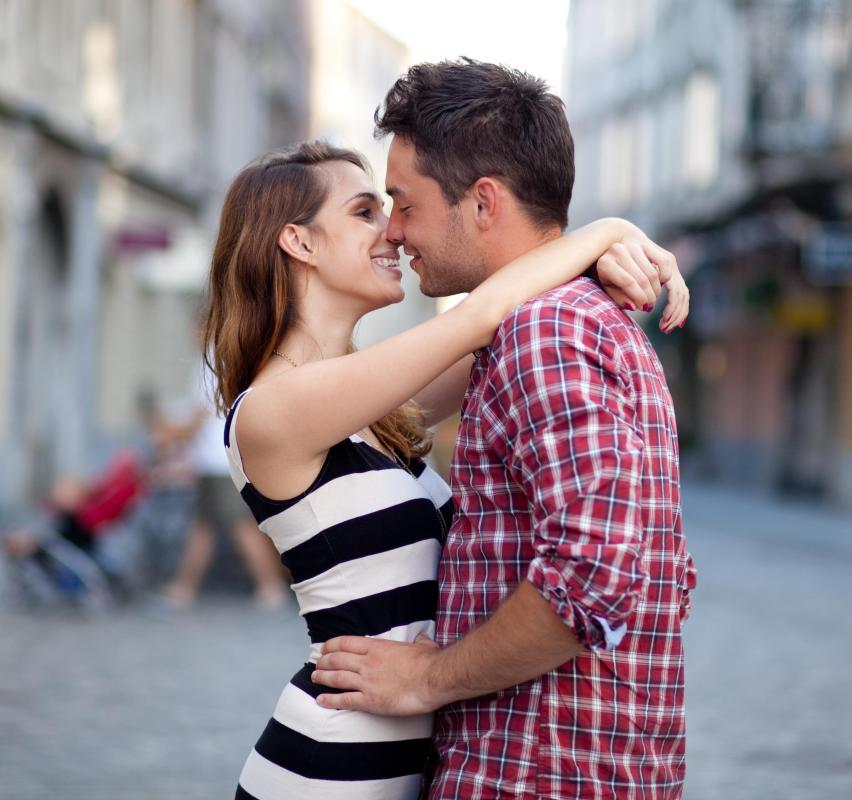 New couples tend to show affection in public more than couples who have been together a while.