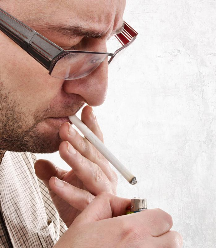 Smoking increases a person's risk for developing oral cancer.