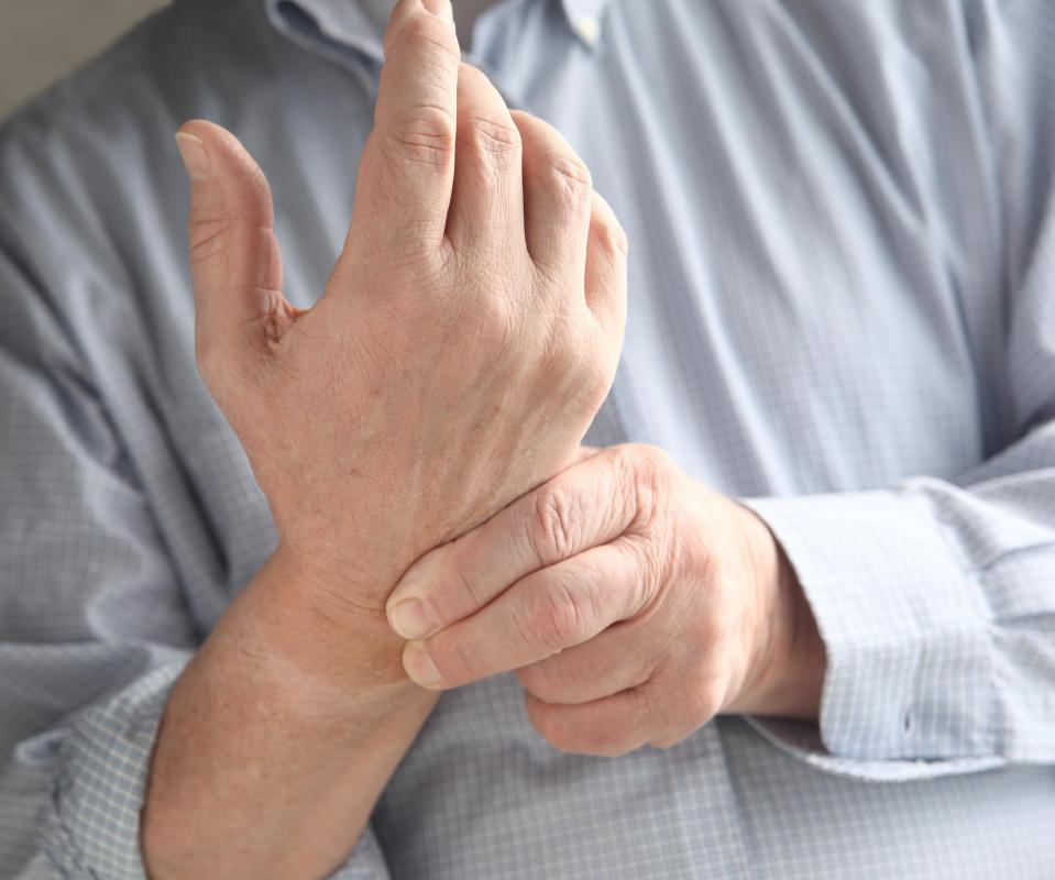 An adductor muscle injury in the wrist may result in pain.