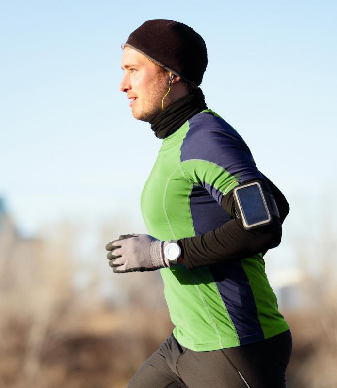 Moisture-wicking clothing keeps the body cooler when engaging in cardio activity like running.