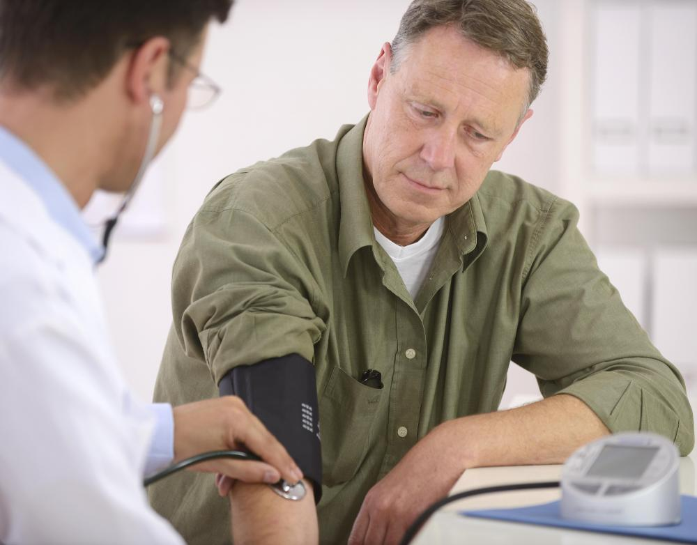 Low blood pressure can strengthen the effects of an anesthetic substance.
