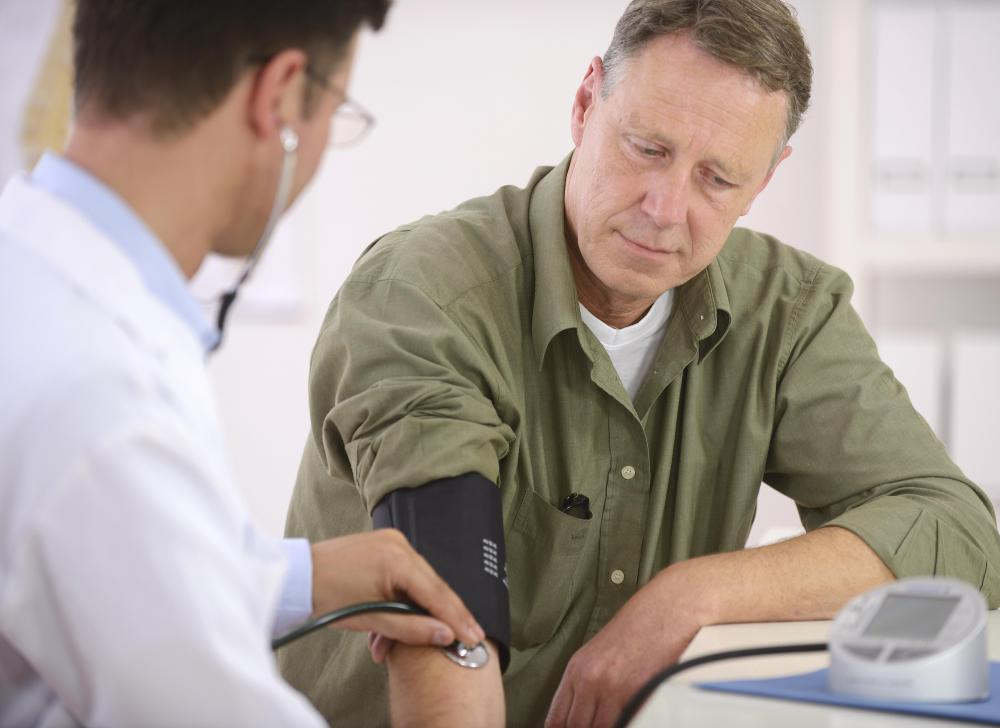 Blood pressure raises when a person is under stress.