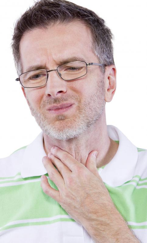 A sore throat is one possible side effect of arsenic trioxide.