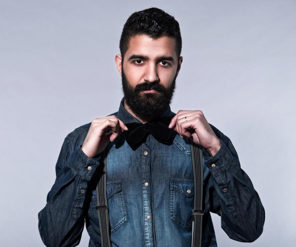 Beards and mustaches are popular among hipsters.