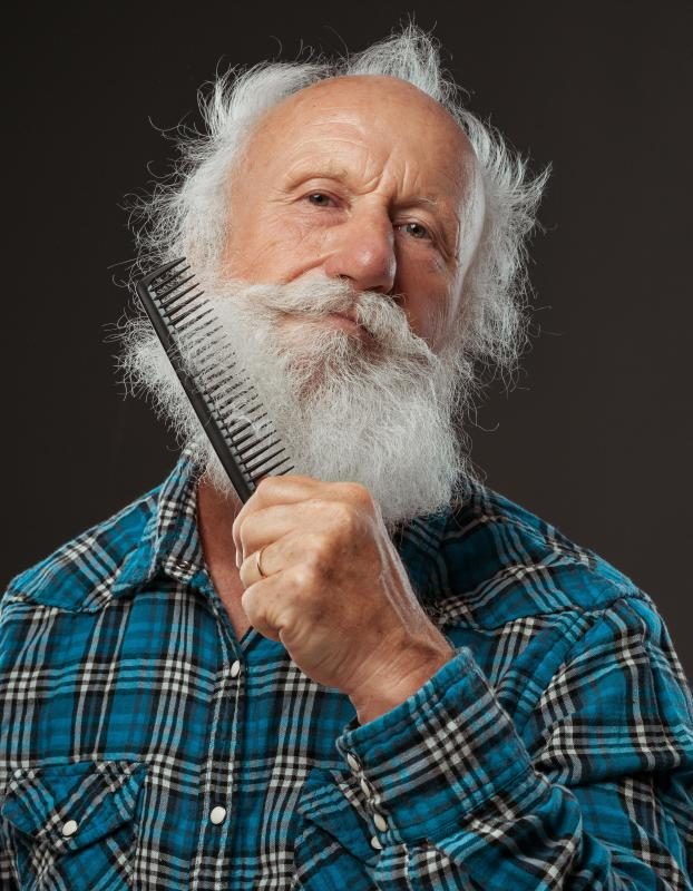 A long, full beard will be easier to groom with a wider comb that has widely spaced teeth.