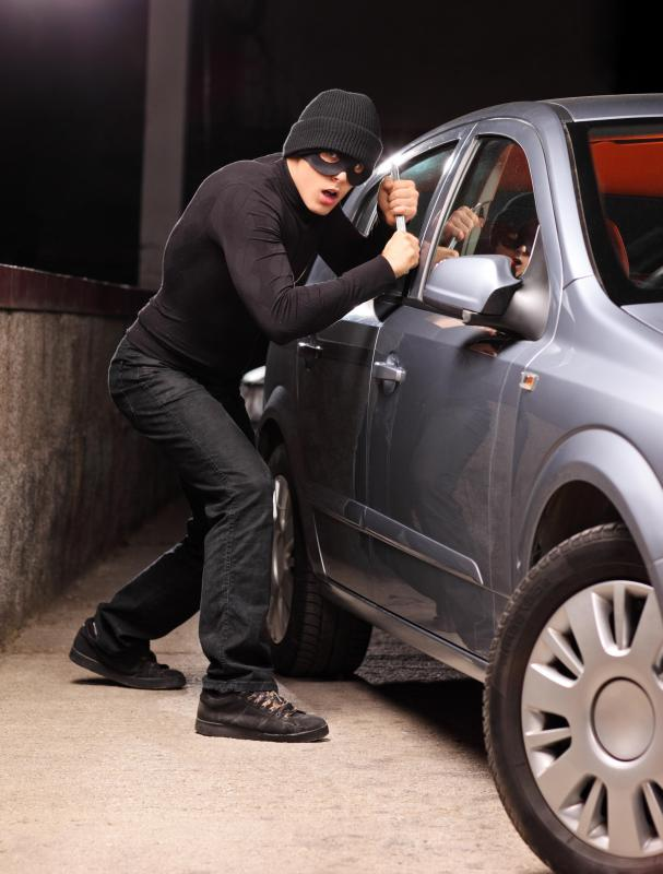 Wheel locks are used to prevent car theft.