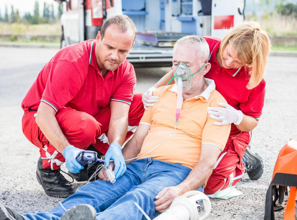 People may require medical attention following an industrial accident.