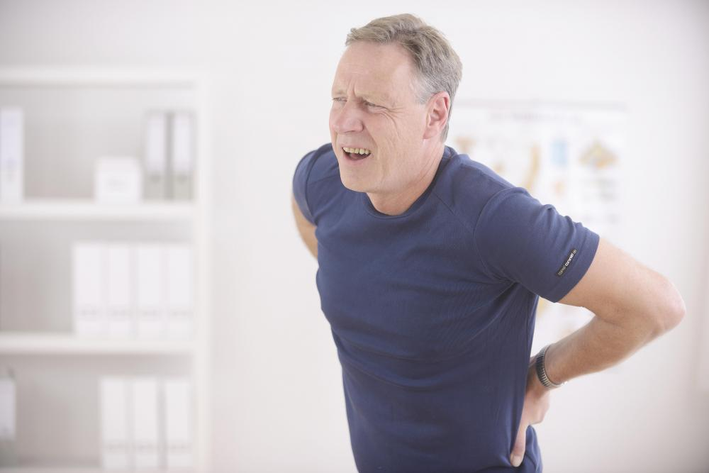 Back pain can be treated with over-the-counter medications.