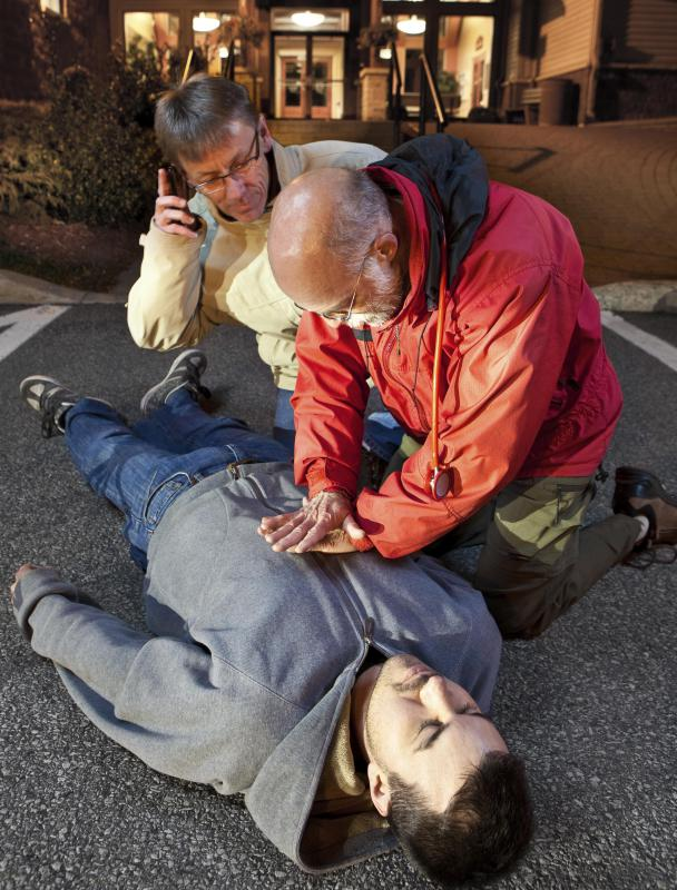 Many people must perform CPR without supplies when an emergency arises.