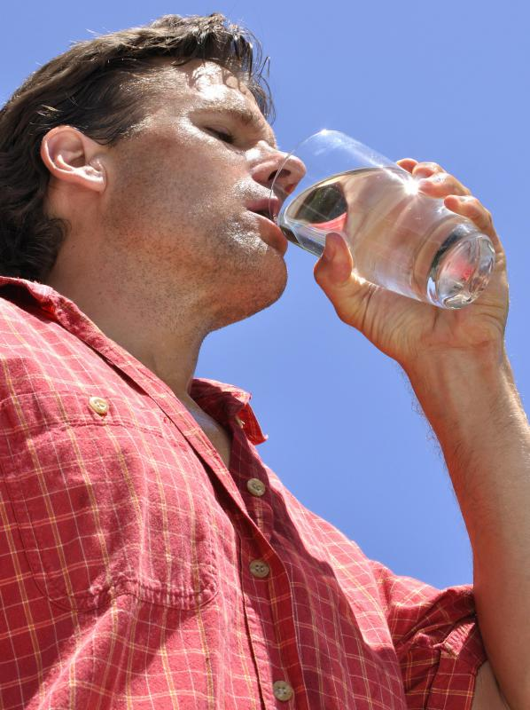 Dehydration can cause interstitial fluid levels to drop, making proper intake of fluids essential for cell health.