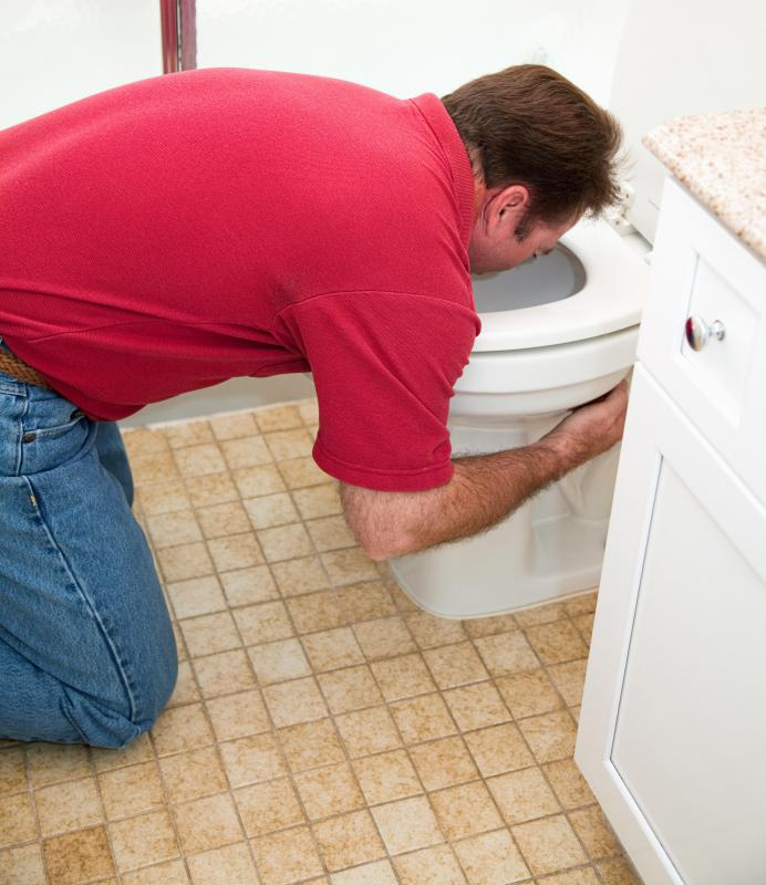 Toilet bowl cleaners should be used after vomiting to reduce the smell.