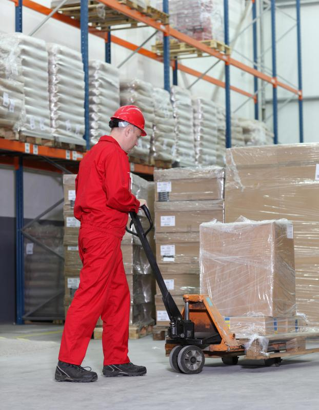 Manual pallet jacks operate hydraulically to allow lifting of heavy objects.