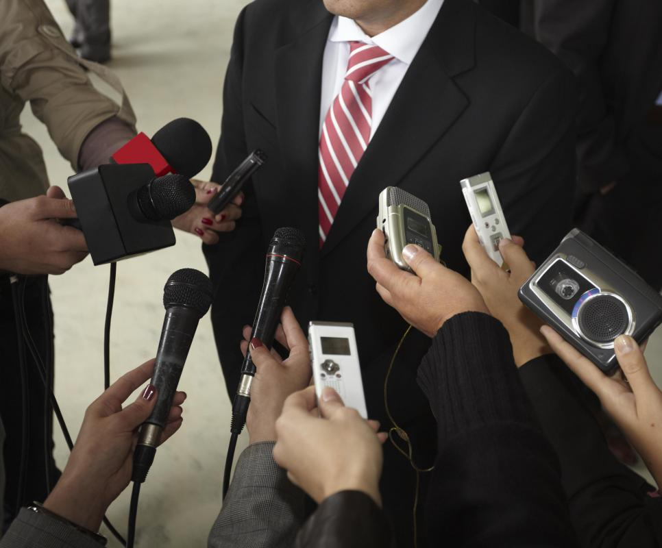 Digital voice recorders may be used to record interviews or press conferences.