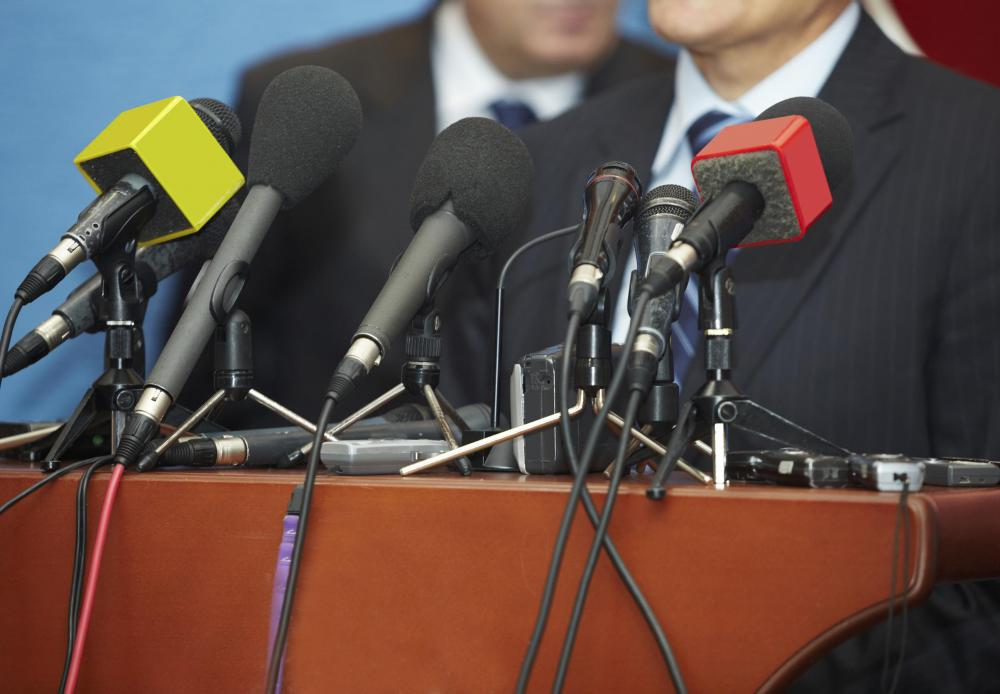 Public relations officers may use press conferences to control an aspect of their employers public image.