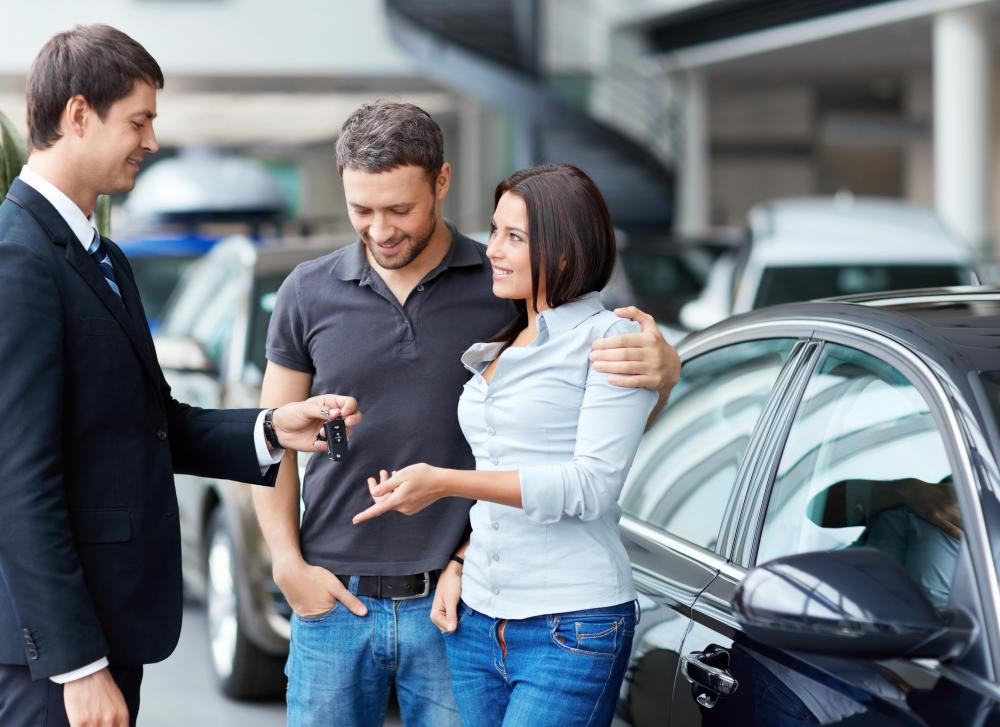 A lending institution may offer financing for a new car.