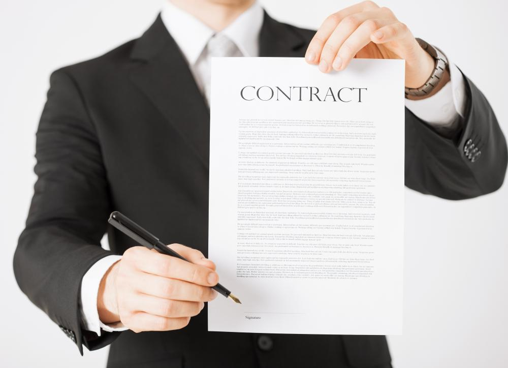 Human resource consultants help companies draft business contracts.
