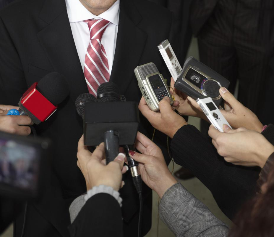 A public relations officer typically represents their company to the media during a crisis.