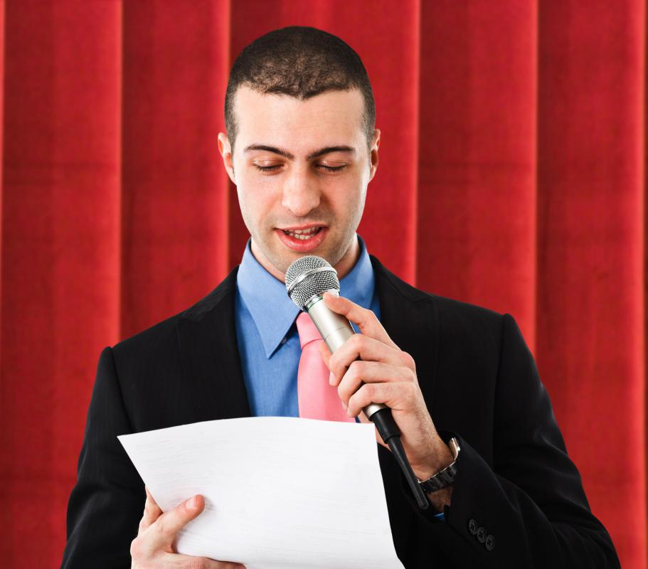 Someone who wants to be a training administrator should be comfortable with public speaking.