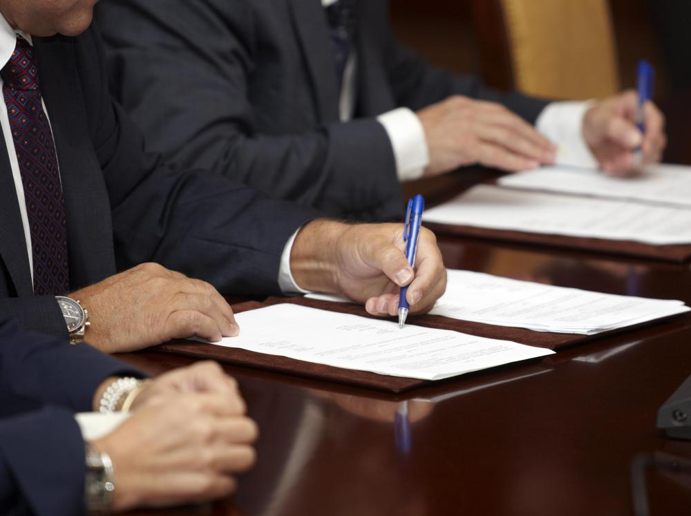 Corporate lawyers help corporations write contracts on a daily basis, regarding many different aspects of business.