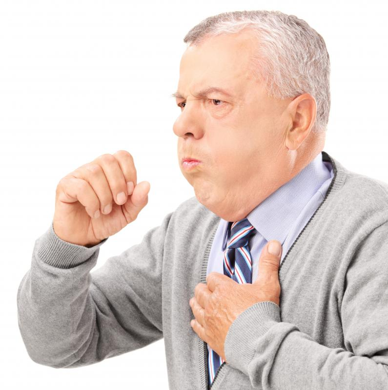 Smoking irritates the lungs and often results in a constant cough.