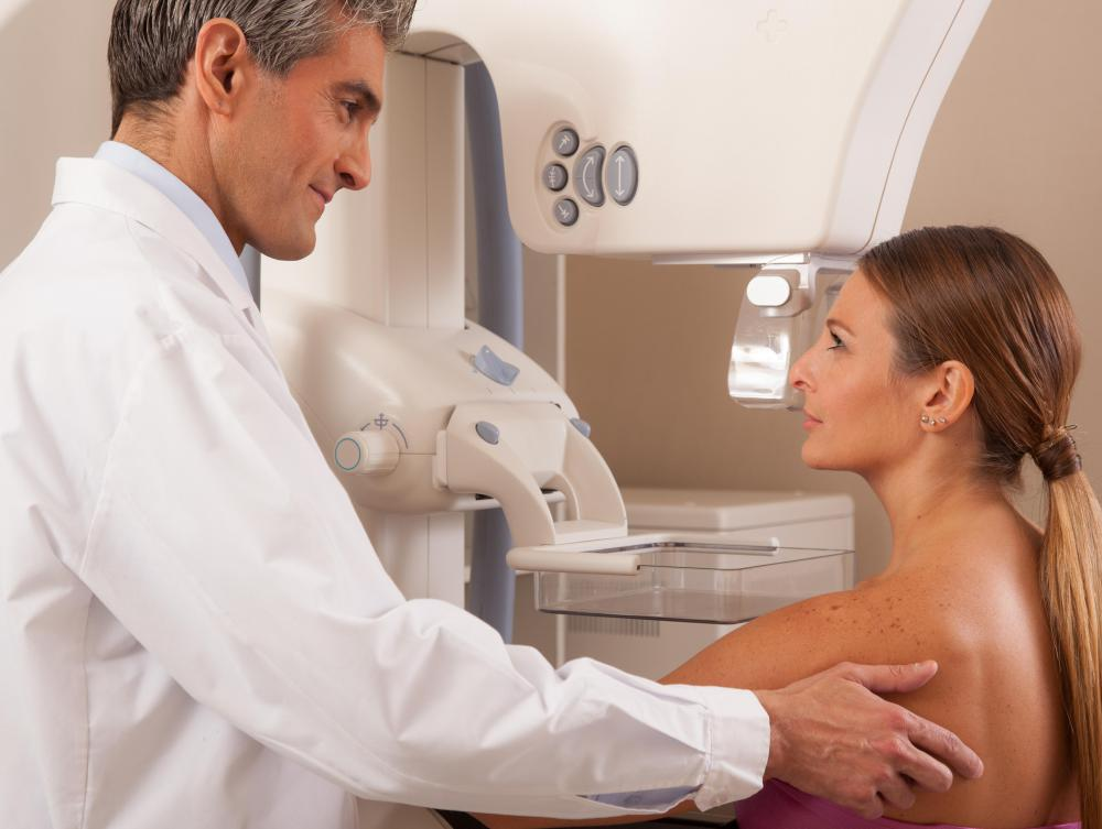 Transillumination may be used during a breast exam.