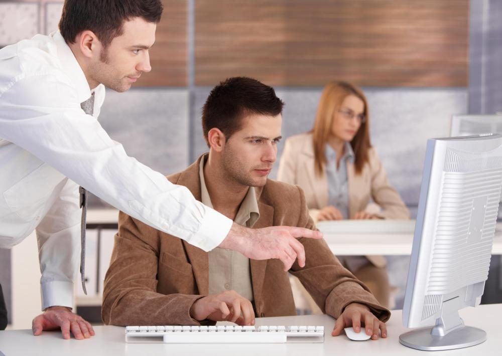 Training administrators make sure new employees are familiar with company systems.