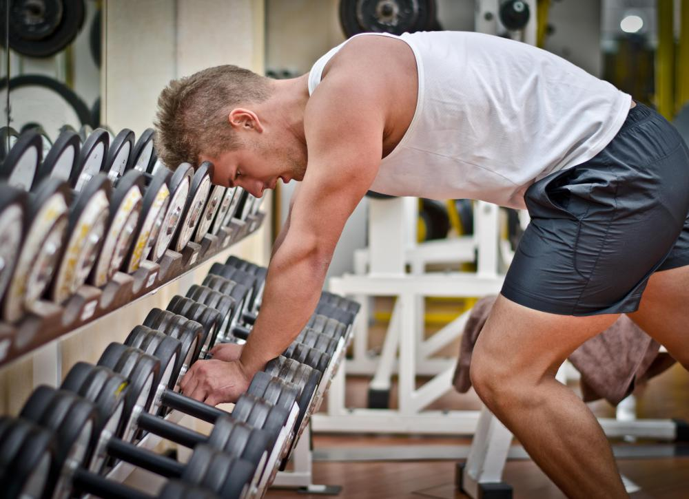Dumbbells can help improve balance as well as increase strength when used for weight lifting.