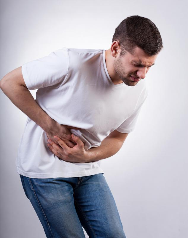 Stomach cramping is a common sign of a laxative overdose.