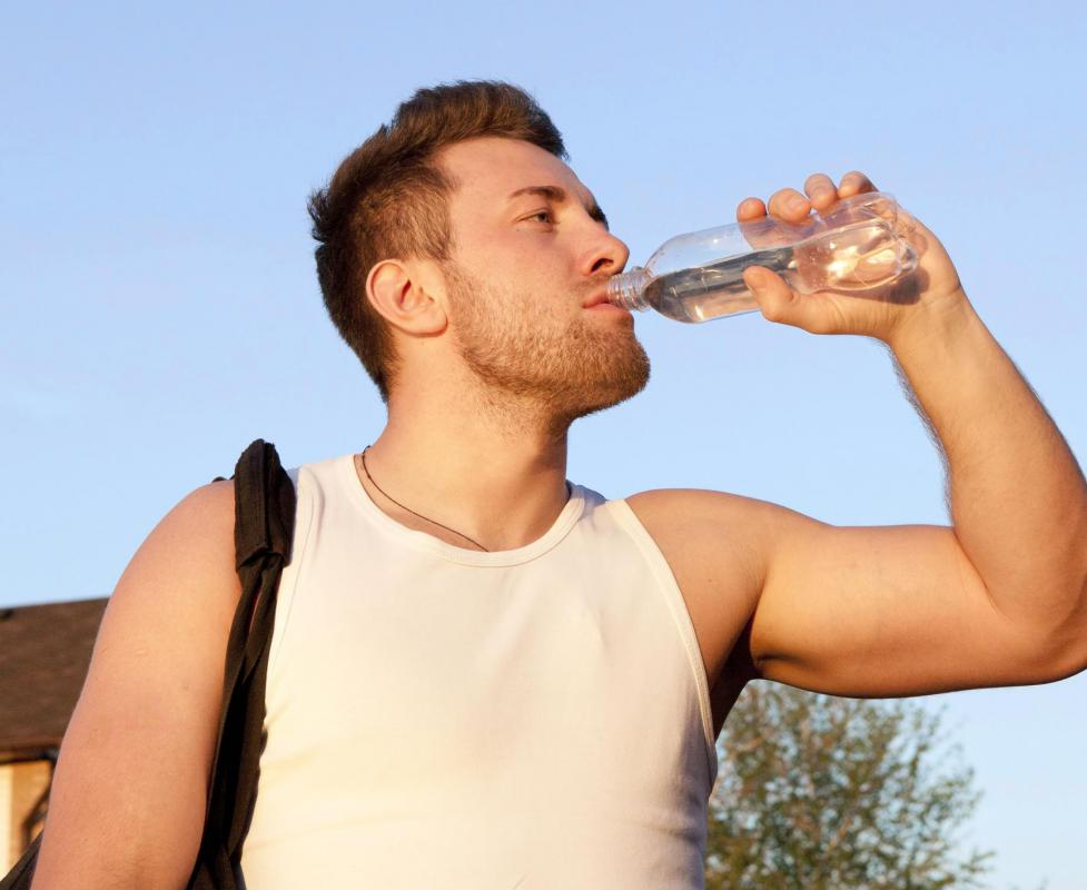 It is recommended to bring a bottle of water during a hike.
