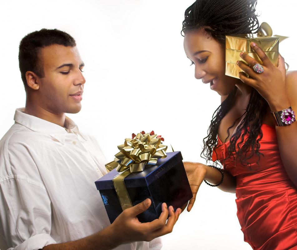 Employees may participate in a gift exchange at work.